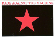 Rage Against The Machine Vinyl Sticker Red Star Logo