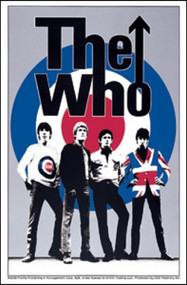 The Who Vinyl Sticker Group Bulls Eye Logo