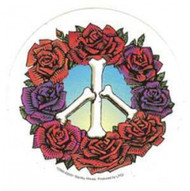 Grateful Dead Vinyl Sticker Peace Roses