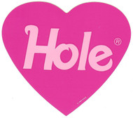 Hole Vinyl Sticker Pink Heart Logo Courtney Love