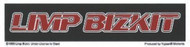 Limp Bizkit Vinyl Sticker Red Letters Logo