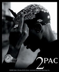 Tupac Shakur 2Pac Vinyl Sticker Bandana Photo Logo
