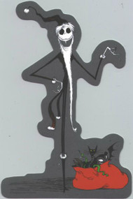 Nightmare Before Christmas Vinyl Sticker Santa Jack
