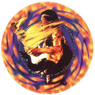 Jimi Hendrix Vinyl Sticker Fire Wheel Logo