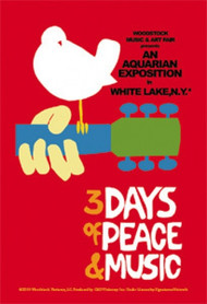 Woodstock Vinyl Sticker Dove Peace Music Logo