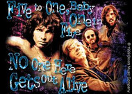 The Doors Vinyl Sticker No One Here Gets Out Alive