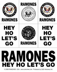 The Ramones Sticker Set 7 Mini Stickers