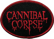Cannibal Corpse Iron-On Patch Oval Red Blood Logo