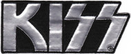 Kiss Iron-On Patch Silver Letters Logo