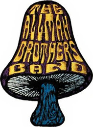 Allman Brothers Band Iron-On Patch Mushroom Logo