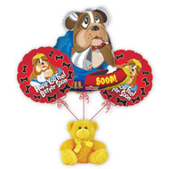 Darling balloon bouquet with Hope You Feel Better Soon sentiment.  Sure to brighten any room.