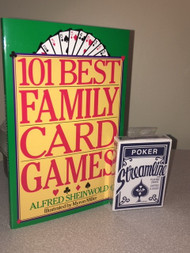 Deck of cards and book of 101 card games to play.