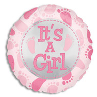 "Mylar balloon add-on; ""It's a Girl!"""