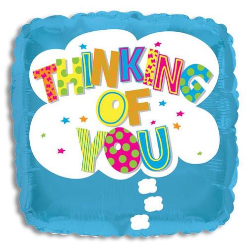 "Mylar balloon add on; ""Thinking of You"""