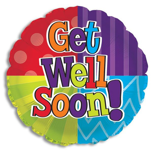 "Mylar balloon add-on; ""Get Well Soon!"""