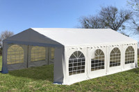 PE Party Tent 26'x16' White - Heavy Duty Wedding Canopy Gazebo w Waterproof Top