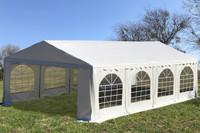 PE Party Tent 26'x16' White - Heavy Duty Wedding Canopy Gazebo w Waterproof Top