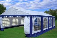 PE Party Tent 26'x16' Blue/White - Heavy Duty Wedding Canopy