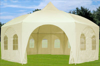 Poly Party Tent 20'x20' Octagonal - Wedding Party Tent - Cream