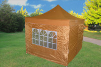 Burnt Orange 10'x10' Pop up Tent with 4 Sidewalls - F Model Upgraded  Frame