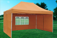 Burnt Orange 10'x15' Pop up Tent with 4 Sidewalls - F Model Upgraded Frame