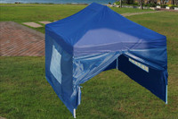 Navy Blue 10'x15' Pop up Tent with 4 Sidewalls -  F Model Upgraded Frame