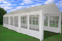 PE Party Tent 30'x10' - Heavy Duty Wedding Canopy - White