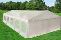 PE Party Tent 32'x20' with Waterproof Top - Heavy Duty Wedding Canopy - White