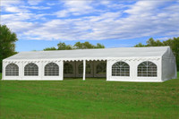 PVC Party Tent 49'x23' - Heavy Duty Party Wedding Tent - White
