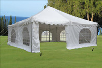 20'x20' Pole Tent PVC - White Party Wedding Canopy Shelter
