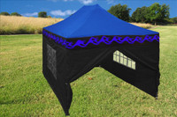 Blue Flame 10'x15' Pop up Tent with 4 Sidewalls - F Model Upgraded Frame