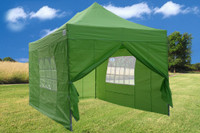 Emerald 10'x15' Pop up Tent with 4 Sidewalls - F Model Upgraded Frame