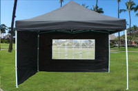 Black 10'x10' Pop up Tent with 4 Sidewalls - E Model