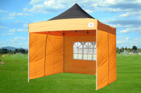 Black Orange 10'x10' Pop up Tent with 4 Sidewalls - E Model