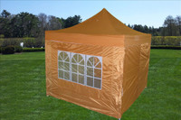 Burnt Orange 10'x10' Pop up Tent with 4 Sidewalls - E Model