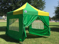 Green Yellow 10'x10' Pop up Tent with 4 Sidewalls - E Model