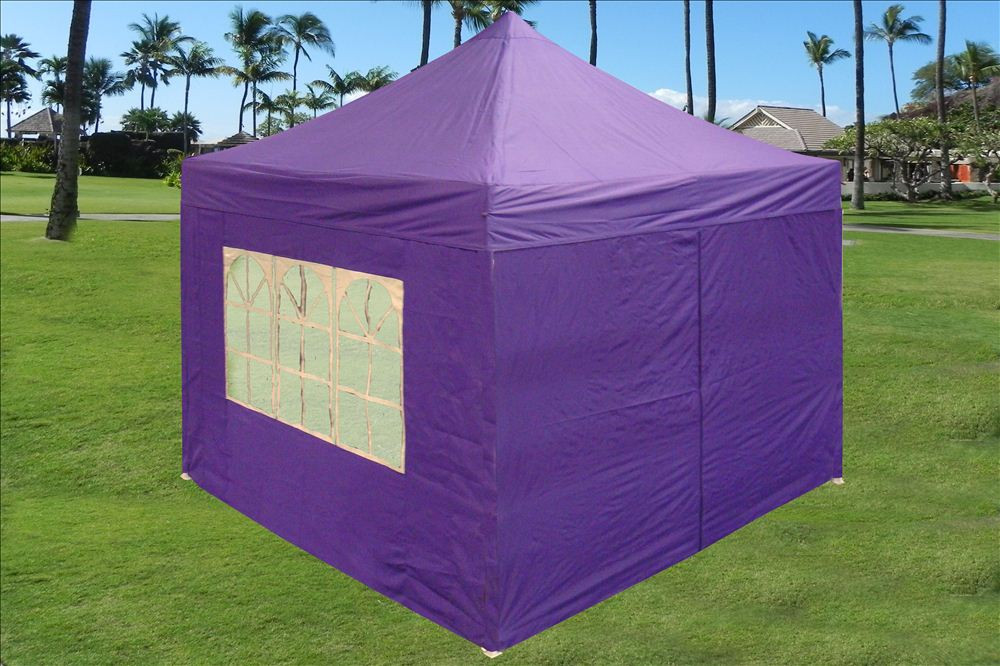 cheap for discount 50b86 116b9 Purple 10'x10' Pop up Tent with 4 Sidewalls - E Model