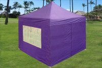 Purple 10'x10' Pop up Tent with 4 Sidewalls - E Model