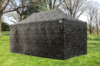 Camouflage 10'x20' Pop up Tent with 6 Sidewalls - F Model Upgraded Frame