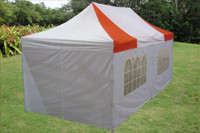 Red White 10'x20' Pop up Tent with 6 Sidewalls - E Model