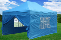 Sky Blue 10'x15' Pop up Tent with 4 Sidewalls - E Model