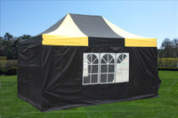 Black Yellow 10'x15' Pop up Tent with 4 Sidewalls - E Model