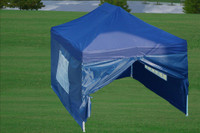 Navy Blue 10'x15' Pop up Tent with 4 Sidewalls - E Model