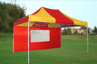 Red Yellow 10'x15' Pop up Tent with 4 Sidewalls - E Model