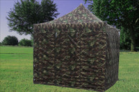 Camouflage 10'x10' Pop up Tent with 4 Sidewalls - F Model Upgraded Frame