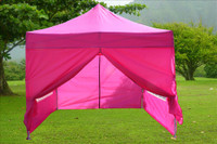Pink 10'x10' Pop up Tent with 4 Sidewalls - E Model