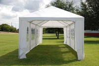 PE Wedding Tent - 10'x30' - WDMT1030 (w Metal Connectors)