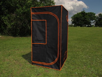 "Grow Tent 02 - 100% Mylar 600D Reflective Greenhouse for Hydroponics 32""x32""x60"""