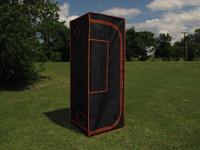 "Grow Tent 03 - 100% Mylar 600D Reflective Greenhouse for Hydroponics 32""x32""x84"""