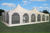 Pagoda PVC Tent 40'x20' - Heavy Duty Wedding Party Tent Canopy - White